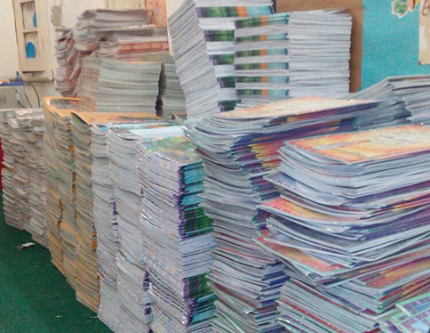Hoopoe books destined for BECS libraries in the Khyber Pakhtunkhwa