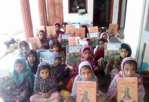 Alif Laila Book Bus Society / HDRO June distribution